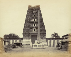 Gopura and stambha of Ulsur Temple, Bangalore